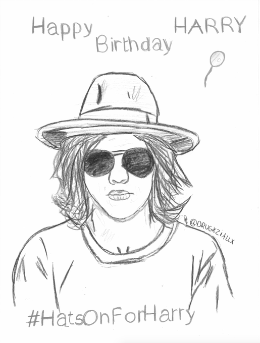 Happy birthday, I hope you will have hats today and you like my drawing.