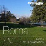 Twitter / @robertamilano: #Buongiorno da una Roma fr ...