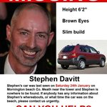 Twitter please help,one of my oldest friends Stephen Davitt is missing.He was our best man.  Im so worried please RT http://t.co/VUI8nAnS5D