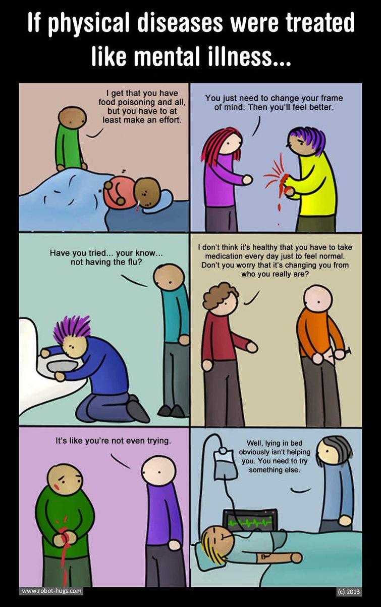 If we treated physical illness like we do mental illness. #BellLetsTalk http://t.co/CC6D4BBWUK