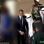 Could Saudi Arabian state TV be any more ridiculous than this - blurring Michelle Obama during Obama visit footage http://t.co/7GBy26oFbw