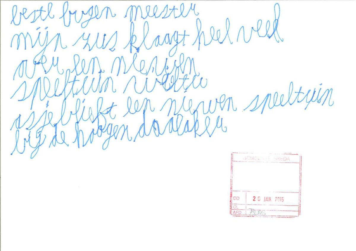Wie kent afzender briefje? Hij/zij komt vermoedelijk uit Bavel. We komen graag in contact. http://t.co/1zkXpy14pp http://t.co/mqUPekAoi9