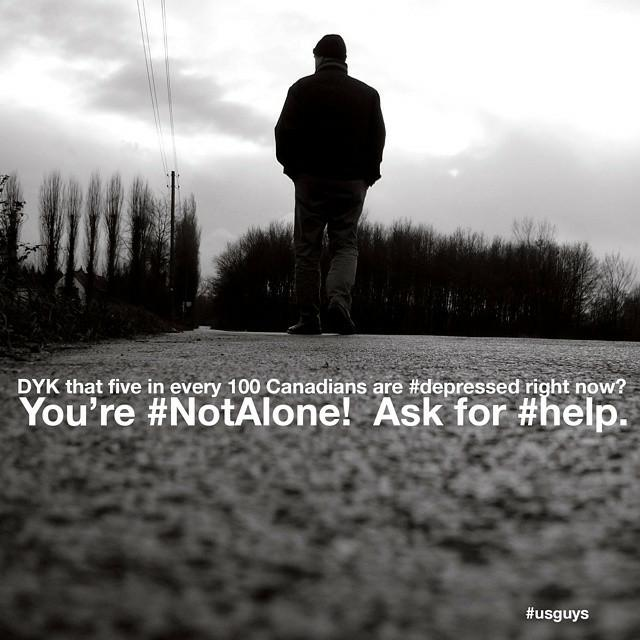 You're #NotAlone!  #BellLetsTalk please RT http://t.co/3wEhqE5QZo