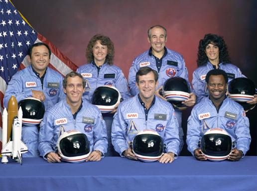 Today we remember the crew of the Challenger, which broke apart seconds after launch in 1986: http://t.co/mWV0onQmCh http://t.co/XHq3d3lC5p
