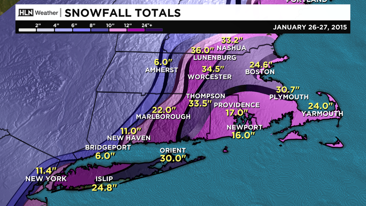 Blizzard wrap-up: a look at how much fell. All-time record for Worcester, January record for Boston http://t.co/eeJNMvbvZ8