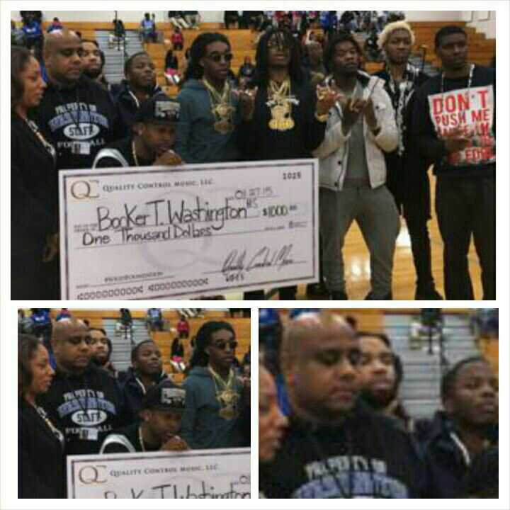 Migos got $100K jewelry but only dropped $1K to their high school #coldworld http://t.co/6uwz3AC6wb