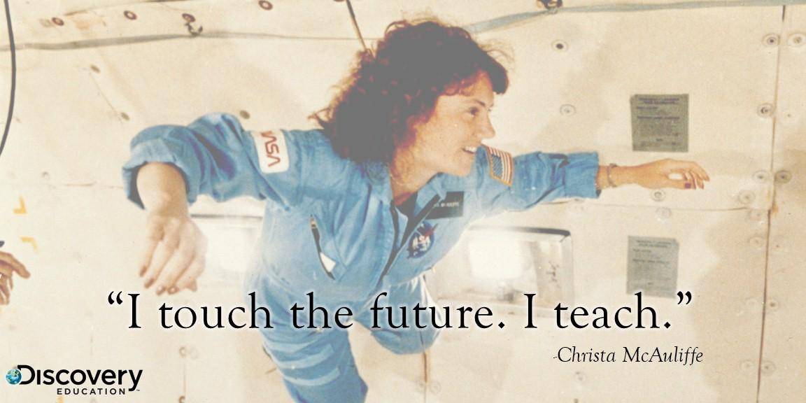 Today we remember an inspiring educator, and her fellow astronauts, who undoubtedly touched the future. http://t.co/FRaLkPfqwD