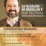 EN MINUTOS apertura oficial de Hay Festival Medellín. Transmisión en vivo por @Telemedellin: http://t.co/jY9c7S2oNB http://t.co/HieJFTaCF2