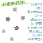Just FLW & RT for a chance to WIN one of three pairs of sterling silver earrings! #FreebieFriday http://t.co/Lf2ZVG4qGN