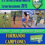 Todo listo para nuestros Cursos Vacacionales 2015. #VamosOrense #FormandoCampeones http://t.co/UDAmsQ76Mp