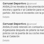 Ansaldi, retenido en comisaría. [Vía SER] http://t.co/yCK81dLDZs