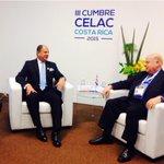 #Enestemomento @luisguillermosr está en reunión bilateral con el Secretario de OEA, José Miguel Insulza #CELAC2015 http://t.co/bWnGPJokoU