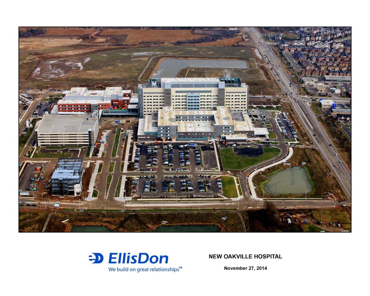 MT @HaltonHlthcare: Bird's eye view! An aerial shot of the #NewOakvilleHospital, opening Dec. 2015 http://t.co/3C6jZiRa7Z