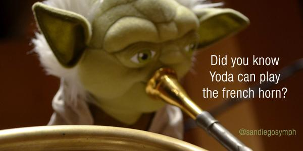 #Yoda is working on his big solo for this weekend. #starwars #johnwilliams #keithlockhart http://t.co/htGd7ZaecZ