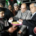 Palestinians in Gaza hand out candy to celebrate Hezbollah attack. (@MaanNewsArabic photo) http://t.co/HqyxI2PCay