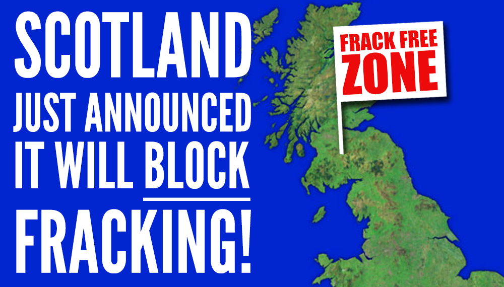 Fantastic - Scotland blocks fracking! RT to share the good news! http://t.co/Q0RkuYtisR #fracking http://t.co/AnjzjS5yNq
