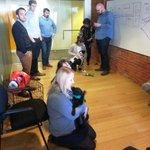 @TheAdcomGroup got some furry visitors today! #UberPuppyBowl @AnimalPlanet @Uber_OHIO :) http://t.co/6RVrUBoYbI