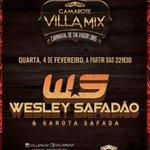 Galera , não percam dia 04 de fevereiro , tem @WesleySafadao no Vila Mix SP :) a melhor boate da cidade http://t.co/Xr3QpXg1zI