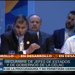 #LAFOTO   Presidente de #Ecuador, @MashiRafael destaca que la unión de los pueblo ya no es un sueño #CELAC2015 http://t.co/Mxq2mJYhYb