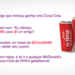 Mande uma @CocaNoMc para @ um amigo com uma mensagem especial! ❤ Saiba mais: http://t.co/KF8ppMqDf5 http://t.co/Lqb1oiGIun