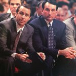 Coach Ks Duke takes on pupil Mike Breys Notre Dame team tonight. Here they are in 1989 http://t.co/BI8x6hv72x