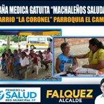 En parroquia El Cambio, Red Municipal de Salud, realizó Campaña Médica Gratuita Machaleños Saludables http://t.co/SVjg8f3Wr6