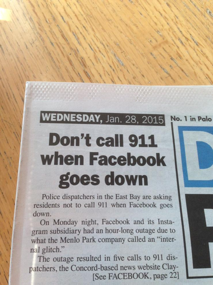 I weep for the future. This morning's local paper. http://t.co/MyCvkHbGTe