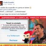 El colmo: Suspenden a @CrudoEcuador http://t.co/vYKGAeVxnj