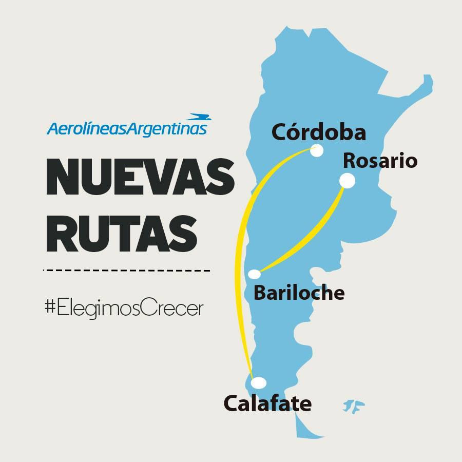 RT @marianorecalde: #ElegimosCrecer incorporando dos nuevas rutas sin pasar por Buenos Aires, conectando el país con @Aerolineas_AR. http://t.co/hmgJ8JjSAW