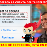 Suspendieron la cuenta de @crudoecuador #YoSoyCrudoEcuador #VenParaMemearte http://t.co/xdwGFYfOFb