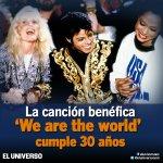 """La grabación de """"We are the world"""", hace 30 años, reunió a casi medio centenar: http://t.co/JeADeA03Ag http://t.co/B2vQuQ4E3E"""