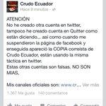 La cuenta @CrudoEcuador en quitter es falsa cc: @gatoquefuma @Edward_Coke @Fercita_0 http://t.co/Vl0eKAOwMs