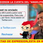 Suspenden la cuenta de Twitter de Crudo Ecuador http://t.co/jKp40tIkWs http://t.co/fdz5q4bKiY