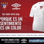 Hinchas de #LDU presentamos la camiseta diseñada x @UmbroEcuador que vestirá @LDU_Oficial este 2015 #NocheBlancaLDU http://t.co/F9BL17JAtG