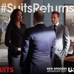 """""""@Suits_USA: Its time. Tune in NOW for the return of #Suits, directed by @GabrielMacht. #SuitsReturns http://t.co/lbUljVjtEG"""" @AmyMaughan"""