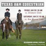 Your No. 8 Aggies are back in action at the Hildebrand Equine Complex this weekend. Admission & Parking = FREE! http://t.co/otS5PVoDlV
