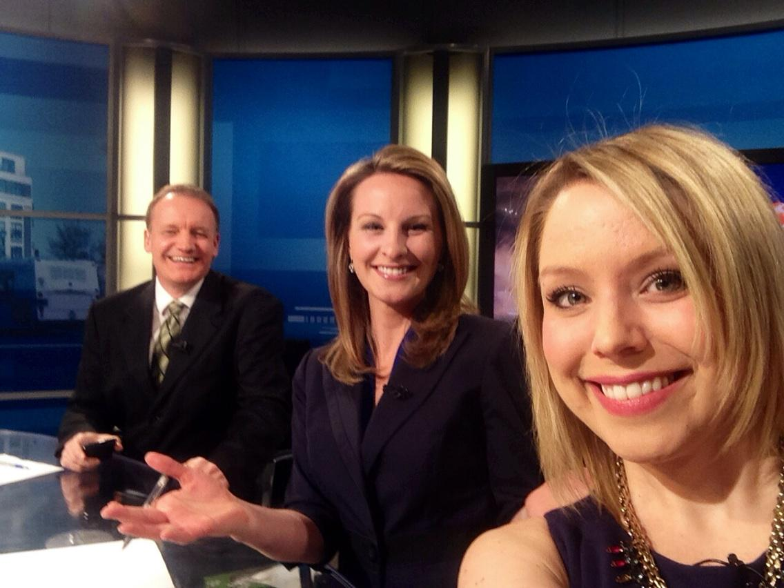 Our @CTVKitchener selfie taken on LIVE TV, all for #BellLetsTalk. Tweet, Text, Talk, Repeat! http://t.co/dXh5Z01YW2