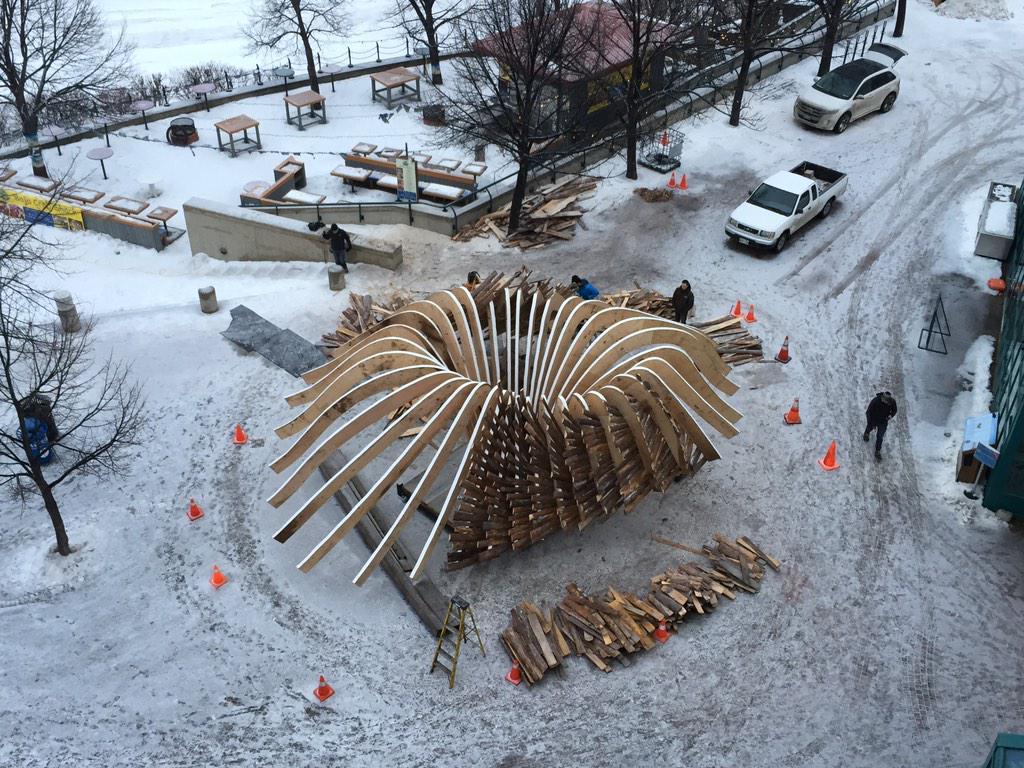 Under Construction @TheForks @warminghuts #Winnipeg http://t.co/VcLgR8oNuy