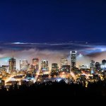 Stunning night time panoramic of Portland as fog rolls down Columbia river. (@Oregonian) http://t.co/ZATucoNQrq