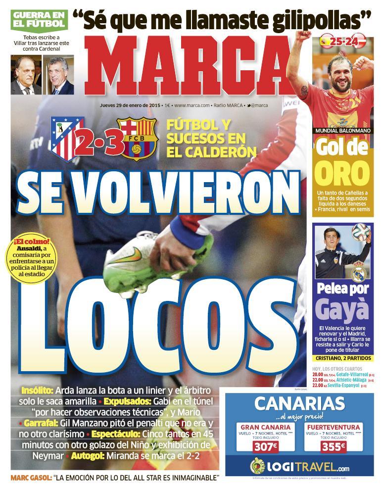 #LaPortada 'Se volvieron locos' http://t.co/n6D9ub74zC
