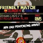 Selangor vs Pulau Pinang 8.45 malam Stadium Shah Alam Rm5  #ApaLagiPenyokongMahu? http://t.co/u30JMPFqgF