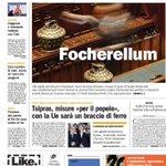 Il Manifesto Grande titolo FOCHERELLUM su ipotesi Mattarella #PresidenteDellaRepubblica #renzi #berlusconi http://t.co/HHJbLUQF13