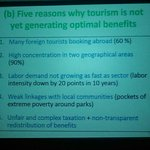 10% of GDP is from tourism. Reasons why tourism isnt generating optimal benefits. #6theconomicupdatetz #utaliitz http://t.co/LGzwnfzq7V
