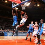 #KNICKS WIN! Final Score Knicks 100 Thunder 92 NYK Leaders: PTS: Anthony - 31 REB: Smith - 11 AST: Calderon - 8 http://t.co/amNsHXOhXn