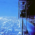 Love the colors on this cold winter day at @SkydeckChicago inside the Willis Tower. #Chicago http://t.co/L9WrchRamg
