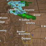 Light rain & snow showing on radar. Signs of a pattern change. @StormStation7 @DenverChannel #cowx Watch 7News at 10! http://t.co/z4jCaWER8K