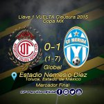 Marcador Final en la cancha del Nemesio Díez @TolucaFC 0 - 1 @CFMerida #VamosVenados #PrimeroSoyVenado http://t.co/50LyH5hmdc
