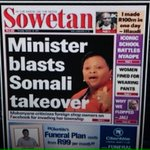 Gweezy says we should stop Afrophobia. He should start with his Cabinet Ministers. #AfrophobicNomvula @SowetanLIVE http://t.co/CHk3RmCPGA