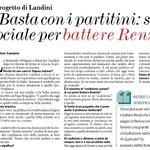Landini: basta coi partitini, sinistra sociale per battere Renzi http://t.co/aRq6eq3xZV
