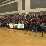 AWESOME @Patriots themed Wake Up Call from Annie Sullivan Middle in #Franklin! Watch: http://t.co/w7mKgTFiHC #wcvb http://t.co/ZH45SLSZ7l